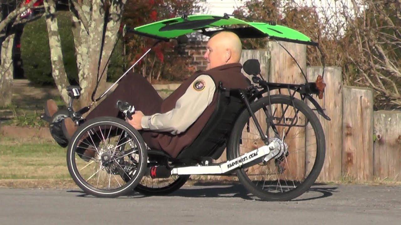 & Recumbent Trike Canopy Installation 2014-11-21 KMX - YouTube