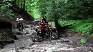 jca off road cup 2012 motorky prejazd potokom