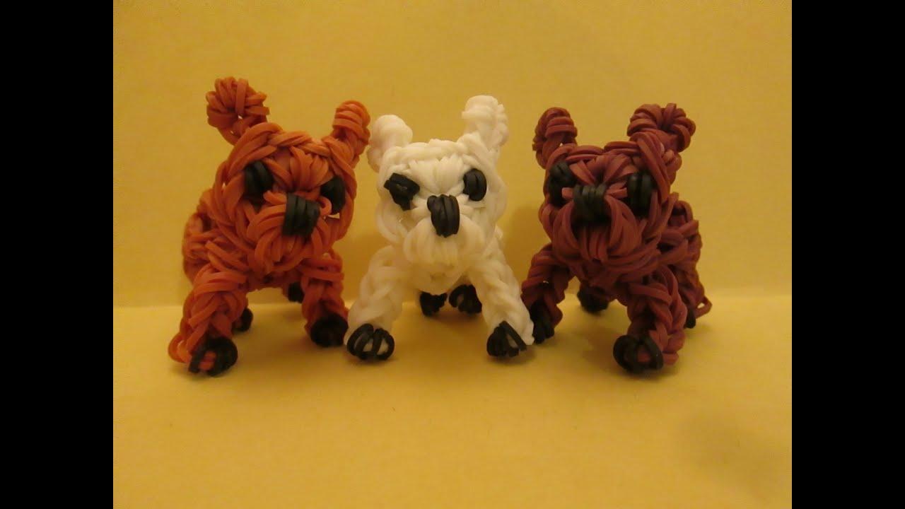 Rainbow Loom French Bulldog Puppy or Dog Charm. 3-D - YouTube