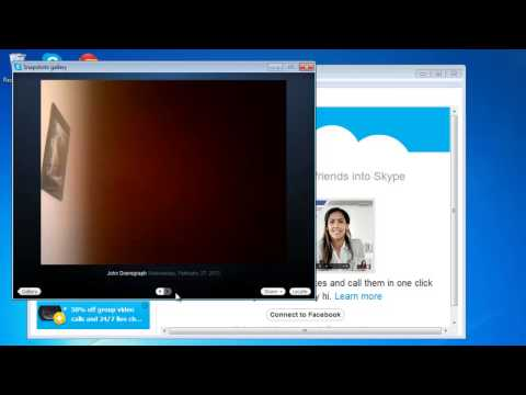 How to Find and View Skype Snapshot Gallery