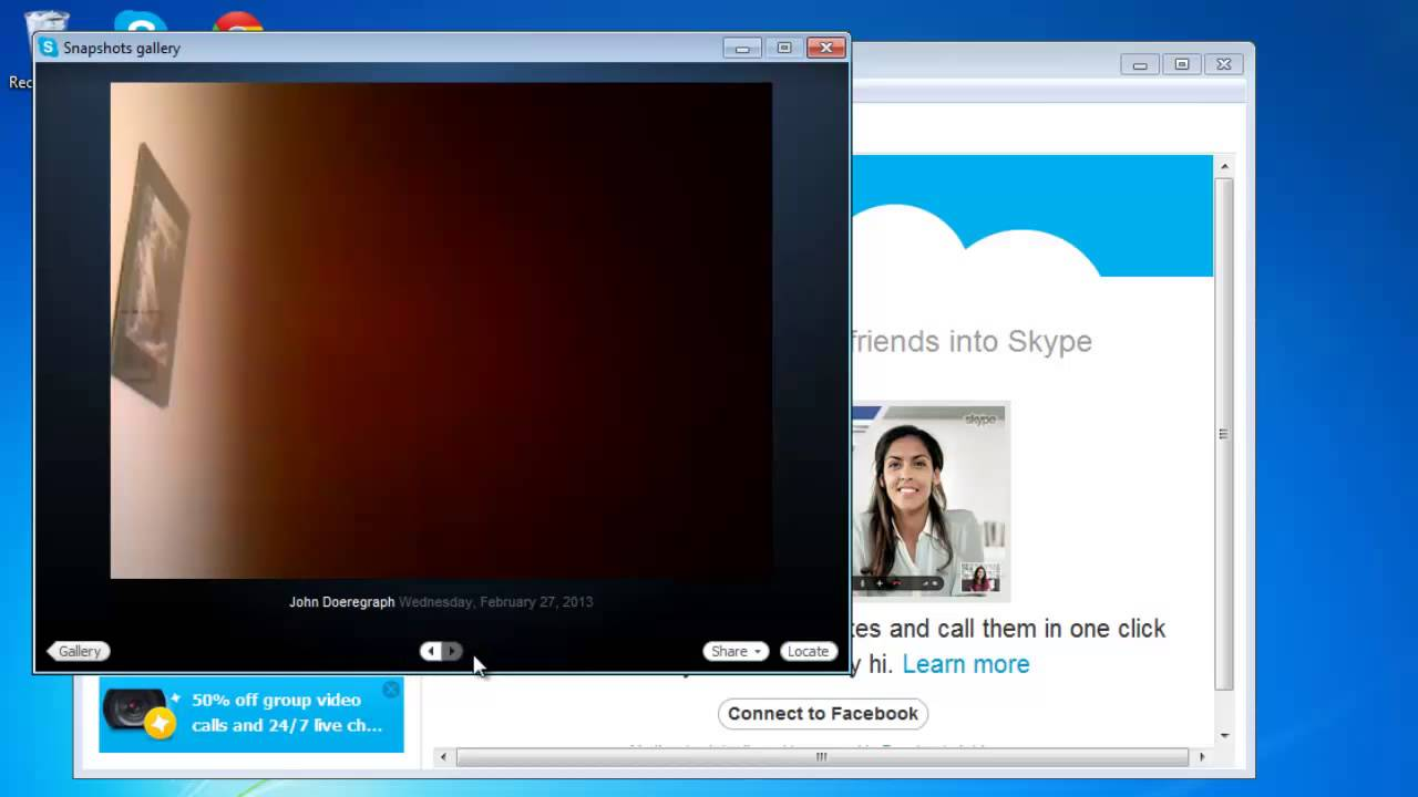 How to find and view skype snapshot gallery youtube ccuart Choice Image