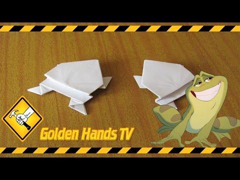 Лягушка из бумаги (Оригами)