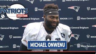 Michael Onwenu Training Camp Interview | FULL 8-3