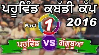 PAHUWIND (TARN TARAN) KABADDI CUP -2016 ! PAHUWIND vs GAGGUBUA ! Full HD ! Part 1st.