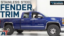 2014-2018 Silverado Stainless Steel Fender Trim - Polished Review & Install