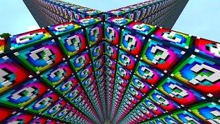 Minecraft 1v1v1v1 SPIRAL LUCKY BLOCK WALLS! #1   (Minecraft Modded Minigame)