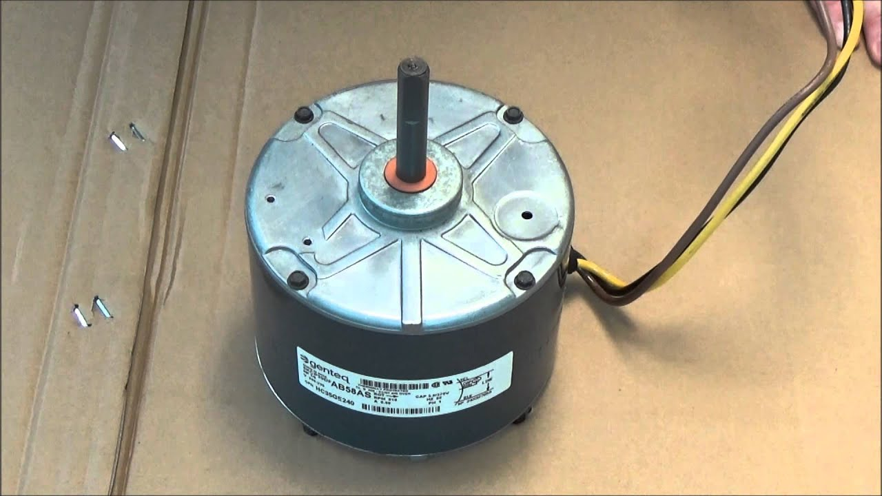 Carrier condenser fan motor hc35ge240 youtube for What is a motor carrier