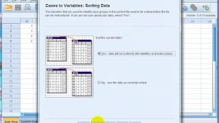 Restructure Data part 2 - SPSS 21 sample case