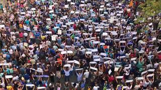 Manifestación en Barcelona contra el terrorismo.