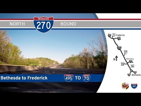 Interstate 270 - Bethesda to Frederick - Maryland |  Drive America's Highways 🚙