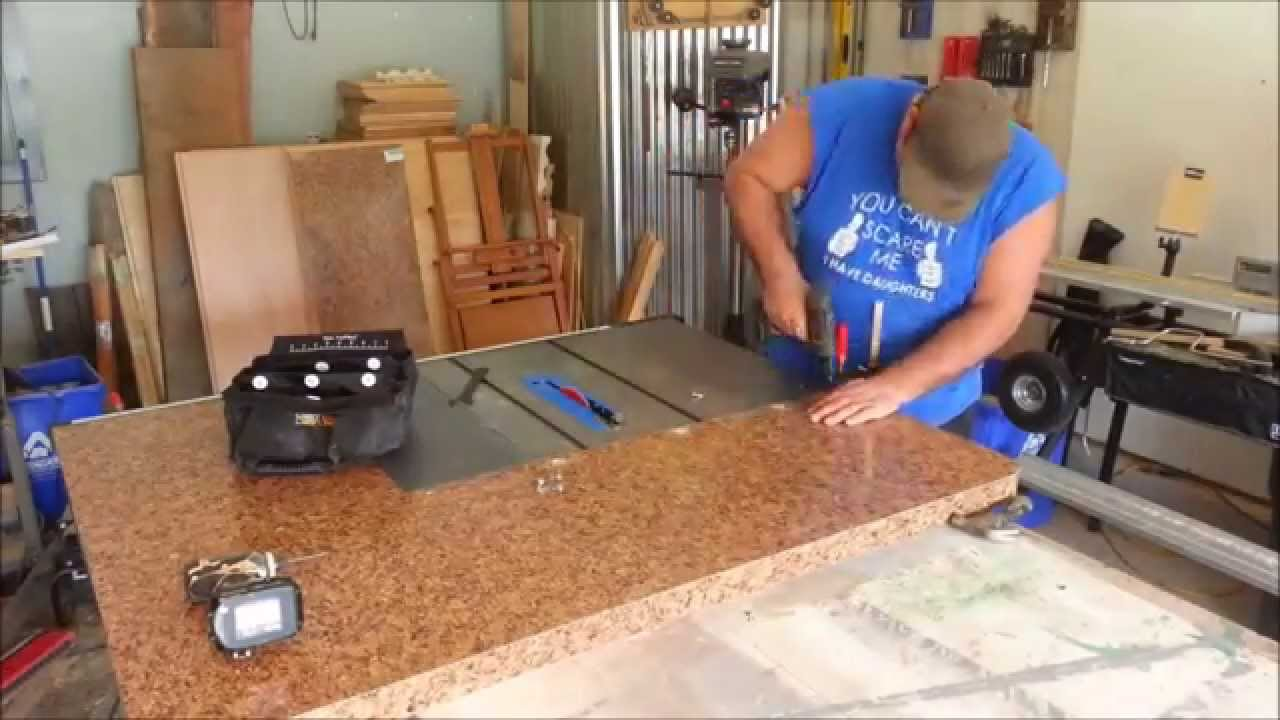 Diy project - Table saw extension and out feed table. Part 1 - YouTube