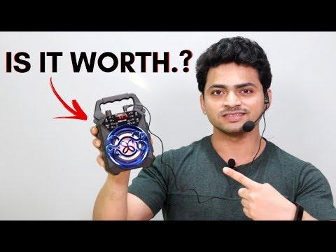 ₹1199/- Bluetooth Speaker + Karoke Mic    Is It Worth.?   Tech Unboxing 🔥
