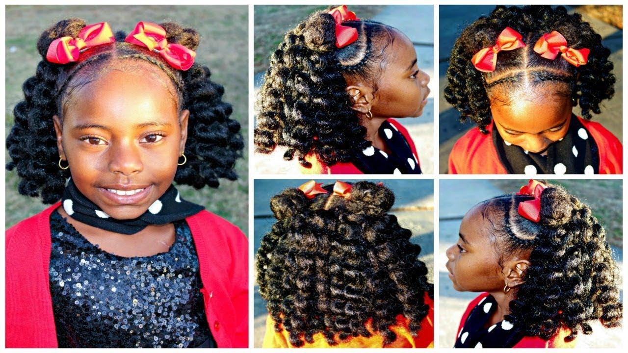 christmas dance hair | short crochet hairstyle | children's natural hair care