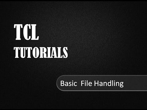 File Handling in TCL # TCL Tutorials
