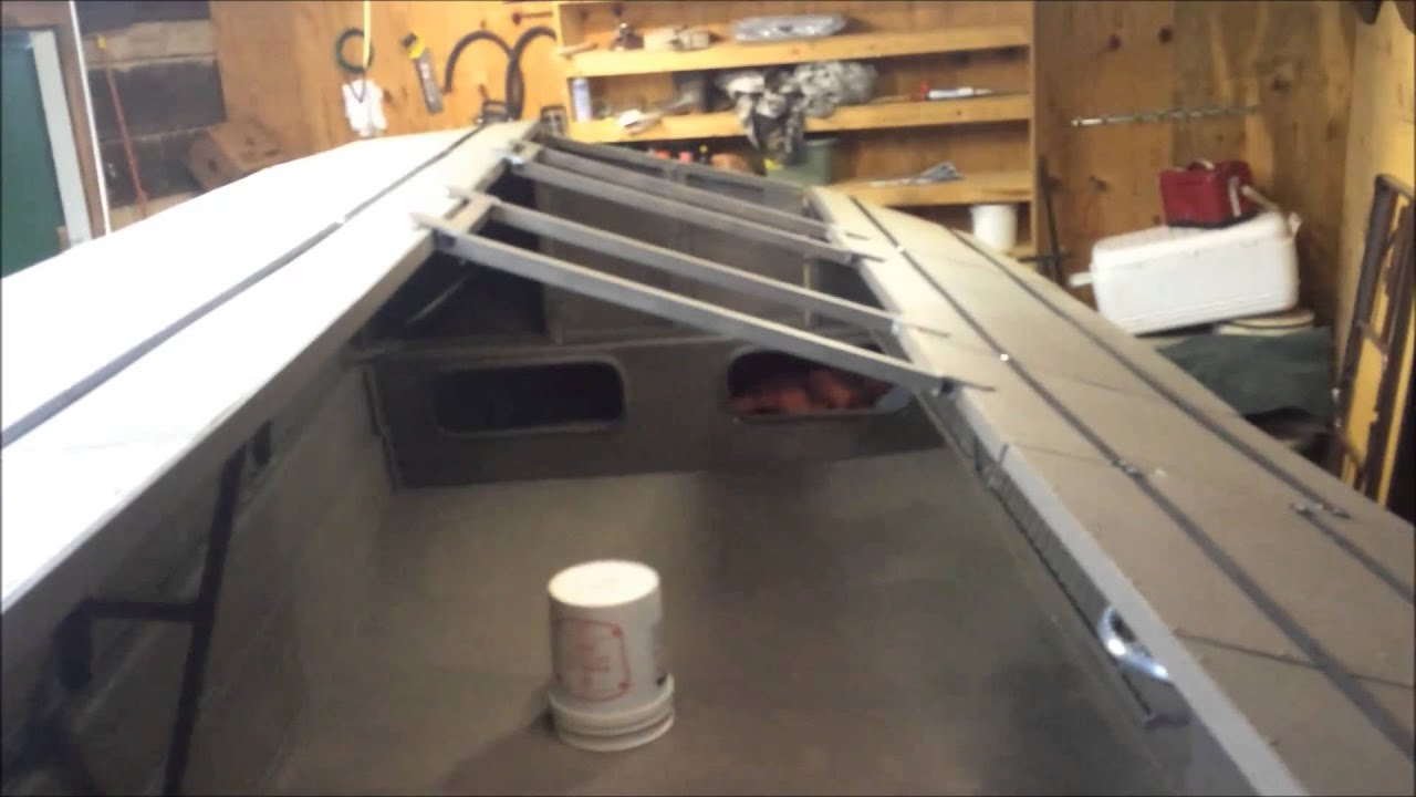 How To Close Blinds >> Custom Aluminum Duck Boat Blind Part VI Carolina Skiff - YouTube
