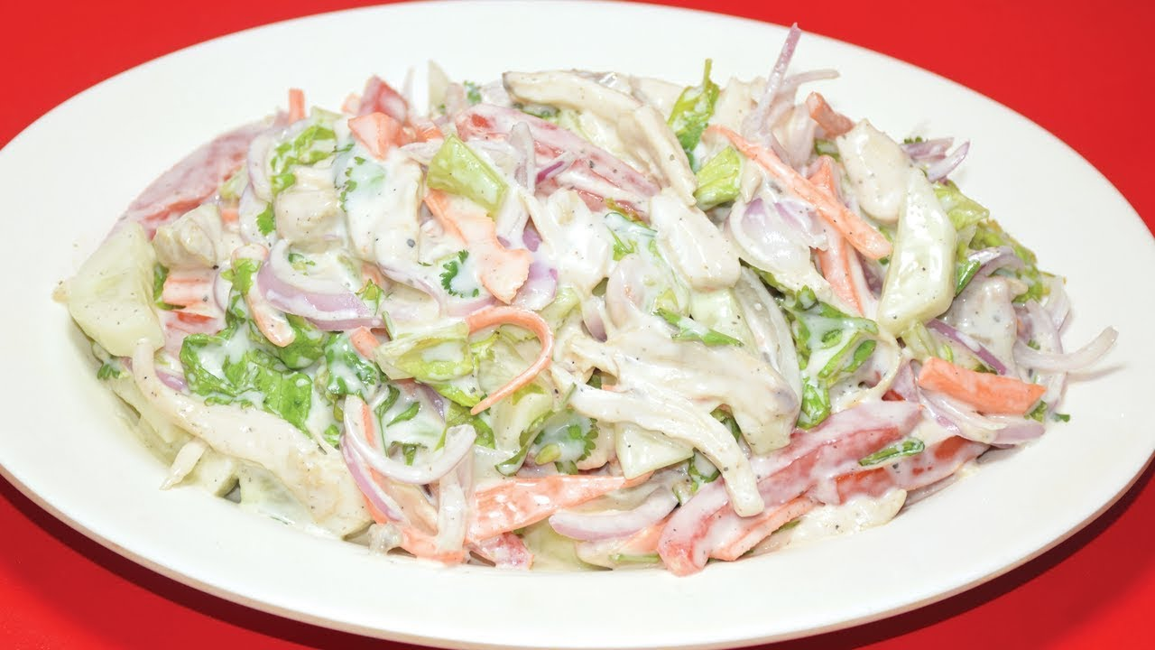 Chicken Salad Recipe - Quick And Easy Healthy Recipe - Easy Salad Recipes - Chicken Recipe