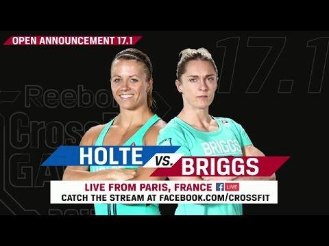 CrossFit Open 17.1 Sam Briggs v Kristin Holte - LIVE FROM PARIS, FRANCE