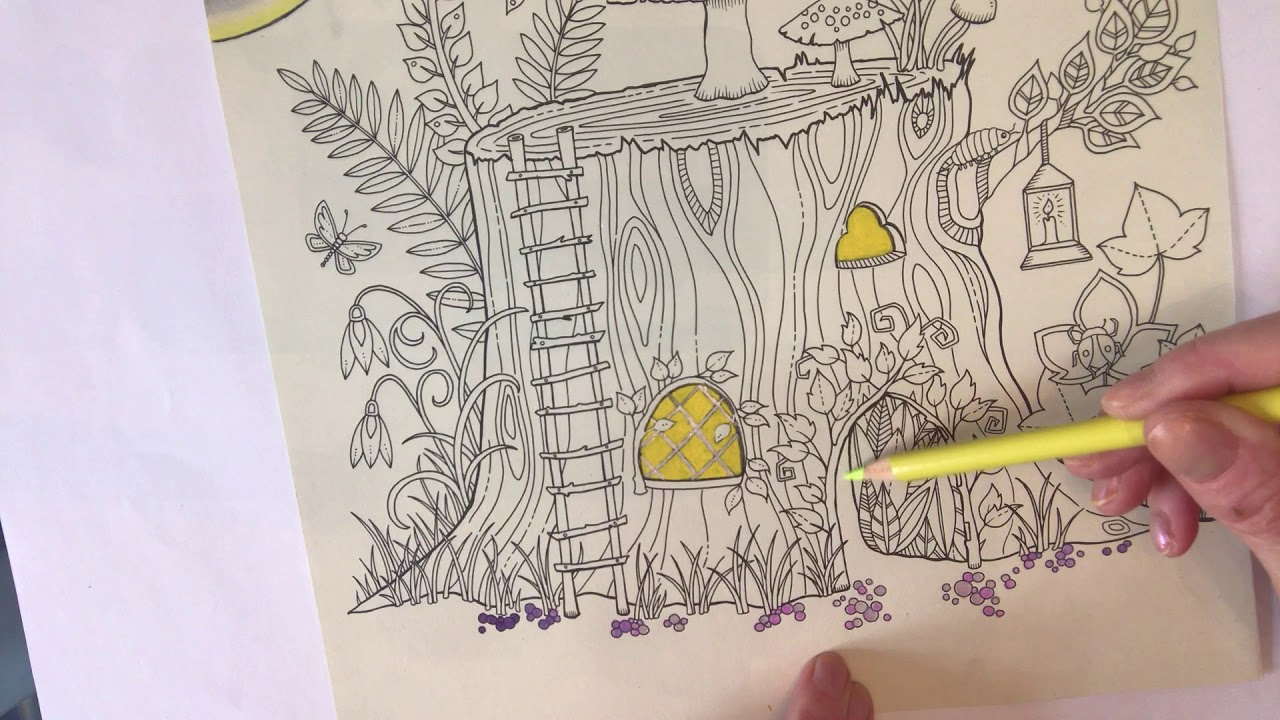 Tutorial 1 Johanna Basford Enchanted Forest Tree House