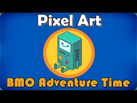 BMO ADVENTURE TIME - Pixel Art - Speed Art