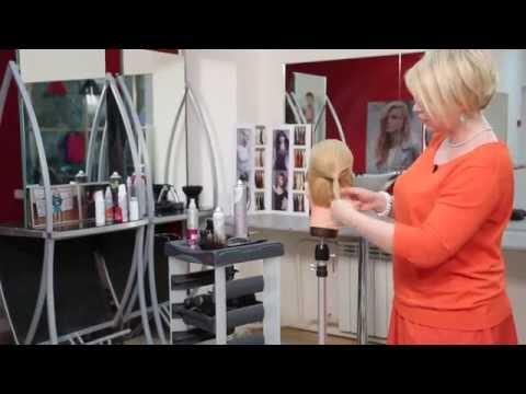 Видео урок, вечерняя прическа с круглым валиком YouTube