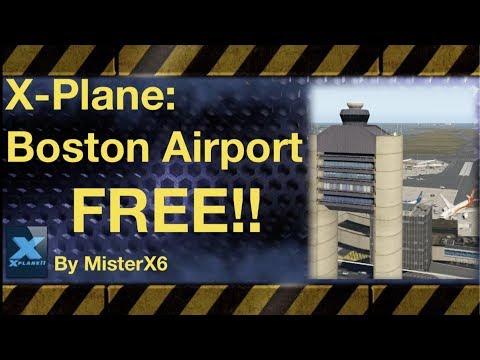 X-Plane amazing Boston International Airport FREEware scenery addon