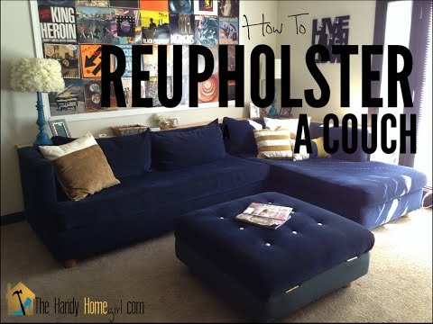 How To Reupholster A Couch Part 1: Stripping A Couch