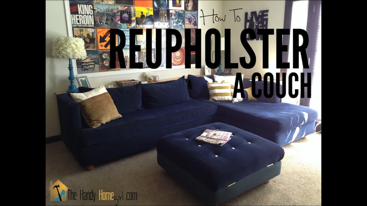 how much fabric to make a sofa cover chocolate grey walls reupholster couch part 1 stripping youtube