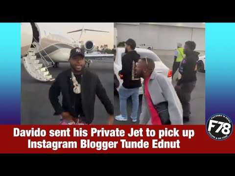F78news Davido Sent His Private Jet To Pick Up Instagram Blogger Tunde Ednut Davido Tundeednut Youtube Or click here for latest gospel music. youtube