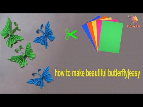 How to make beautiful butterfly|Easy Paper Butterfly Origami|DIY paper butterfly|cut & easy butterfl