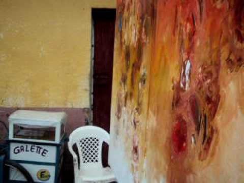 Henri Kalama Akulez painting 24.01.2010 part 2.AVI