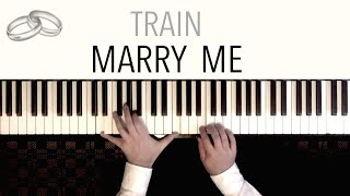 Train - MARRY ME (Wedding Version) - with Bridal Chorus & Canon | Piano Cover