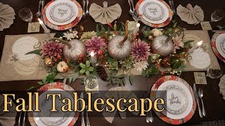 Fall Tablescape 2019/ Thanksgiving Tablescape/ Fall Centrepiece