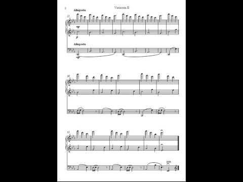 """Aitor Merino Martínez - """"3 variaciones para cello y piano"""" in E-flat major, Op.94"""