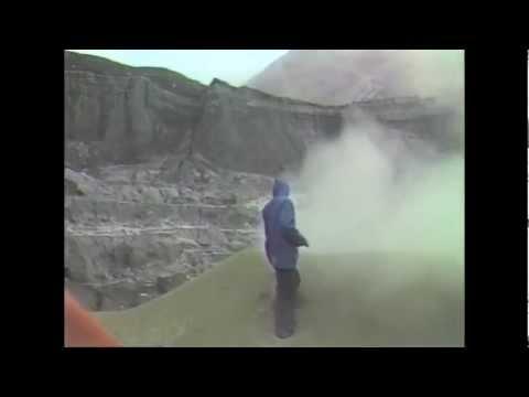 Bizarre sulphur volcanoes at Poás crater, Costa Rica