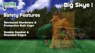 Big Skye I Swing Set By Gorilla Playsets - Swingsetmall.com