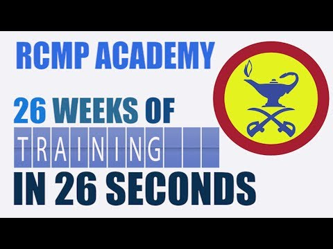 RCMP Academy: 26 Weeks of Training in 26 Seconds