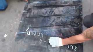 Разметка и нарезка конвейерной ленты для дальнейшей стыковки(В компании Раббер Компани, мы производим качественную стыковку конвейерной ленты. Кроме стыковки горячей..., 2013-12-09T08:05:58.000Z)