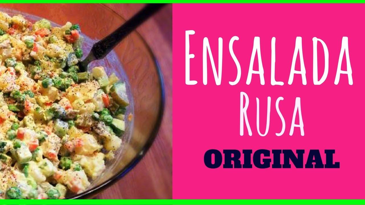 Ensalada rusa receta original como se prepara la for Como se cocina la quinoa para ensalada