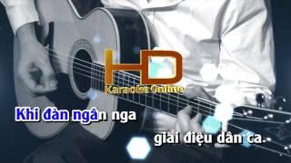 Karaoke Nhạc Sống - Cây Đàn Ghi Ta Của Đại Đội 3 - Beat chất lượng cao