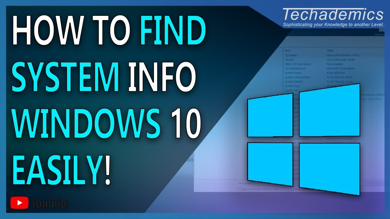How to Check System Information Windows 10 | Find Computers Spec