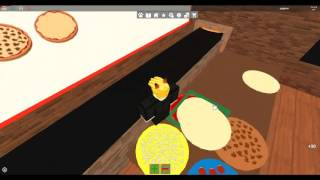 JUST ME ON The SERVER-Roblox Work at a pizza place.