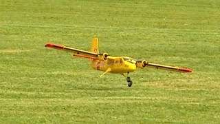 DO-228 RC SCALE MODEL AIRPLANE FLIGHT DEMONSTRATION AND CRITICAL LANDING