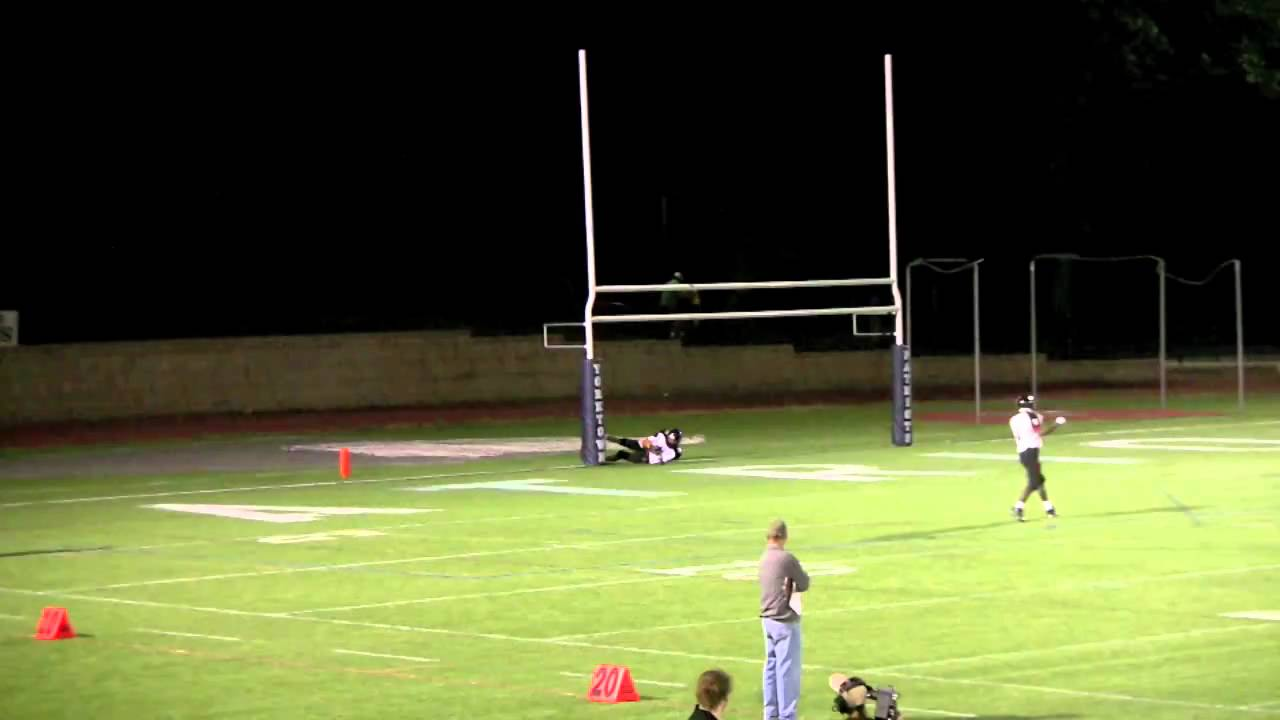 Crazy Football Play - Goal Post Collision - YouTube