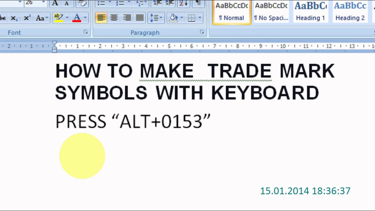 How to make trade mark symbols with keyboard youtube biocorpaavc