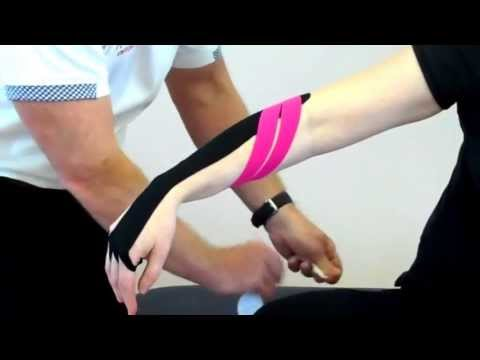 Tennis elbow KT tape