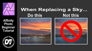 Sky replacement Affinity Photo tutorial