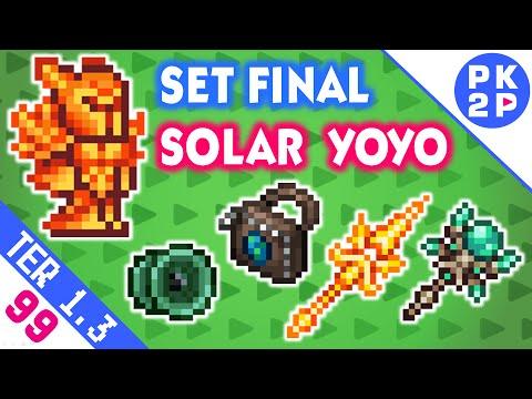 Solar Flare Armor, Terrarian, Yoyo Bag, Lunar Portal e Daybreak • Terraria 1.3 • EP#99