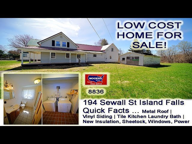 Video Home For Sale | 194 Sewall ST Island Falls ME Real Estate MOOERS REALTY #8836