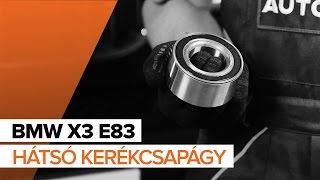 Hogyan cseréljünk Kerékcsapágy készlet BMW X3 (E83) - video útmutató