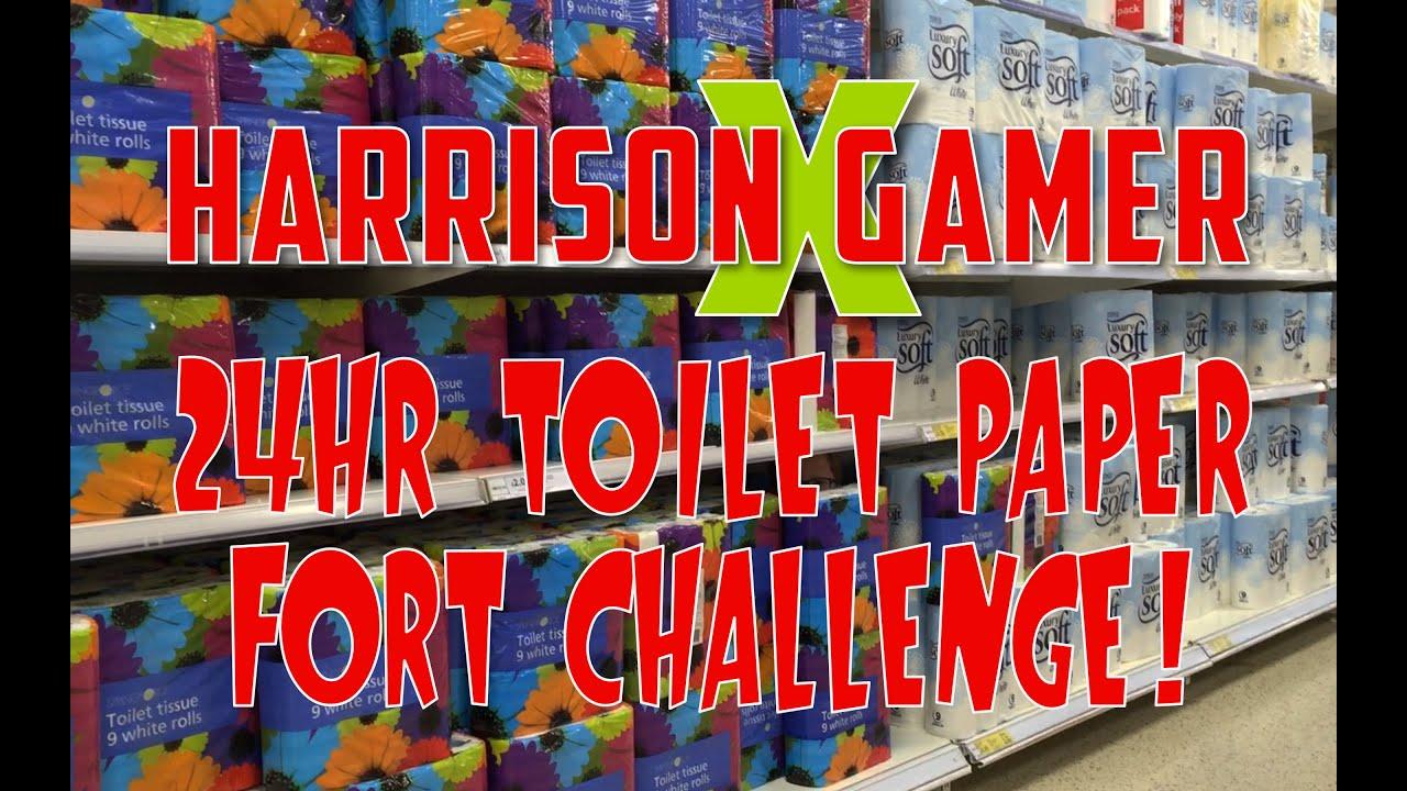 hr toilet paper fort challenge 24hr toilet paper fort challenge